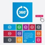 Angle 360 degrees sign icon. Geometry math symbol — Stock Photo