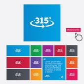 Ikona podepsat 315 stupňů úhel. geometrie matematický symbol — Stock fotografie