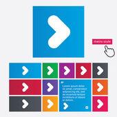 Arrow sign icon. Next button. Navigation symbol — Stock Photo