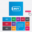 Buy sign icon. Online buying dollar button. — Stock Photo #44610419