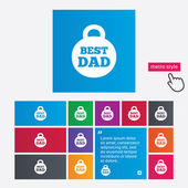Best dad sign icon. Award weight symbol. — Stock Photo