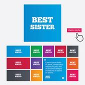 Best sister sign icon. Award symbol. — Stock Photo