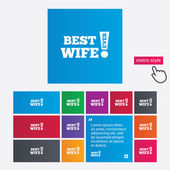 Best wife ever sign icon. Award symbol. — Stock Photo