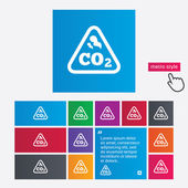 CO2 carbon dioxide formula sign icon. Chemistry — Stock Photo