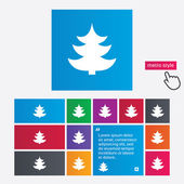 Christmas tree sign icon. Holidays button. — Stock Photo