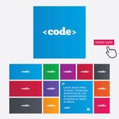Code sign icon. Programming language symbol. — Stock Photo