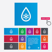 Defrosting sign icon. From ice to water symbol. — Stock Photo