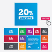 20 percent discount sign icon. Sale symbol. — Stockfoto