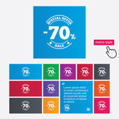 70 percent discount sign icon. Sale symbol. — Stockfoto