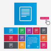 Text file sign icon. File document symbol. — Stock Photo