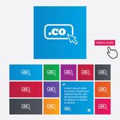 Domain CO sign icon. Top-level internet domain — Stock Photo