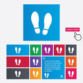 Imprint shoes sign icon. Shoe print symbol — Stockvektor