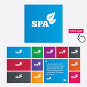 Spa sign icon. Spa leaves symbol. — Stock Vector