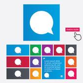 Chat icon segno. simbolo speech bubble. — Vettoriale Stock