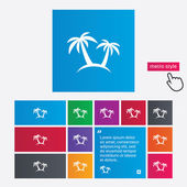 Palm Tree sign icon. Travel trip symbol. — Stockvektor