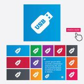 Usb Stick sign icon. Usb flash drive button. — Stock Vector