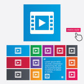 Video sign icon. Video frame symbol. — Stock Vector