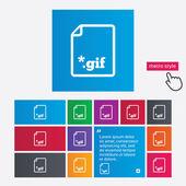 ファイル gif アイコン。イメージ ファイルをダウンロードします。. — ストックベクタ