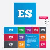 Spanish language sign icon. ES translation. — Stock Vector