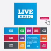 Icône de la musique live de signe. symbole de karaoké. — Vecteur