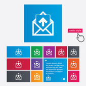 Mail icon. Envelope symbol. Outbox message sign — 图库矢量图片