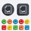 PDF file document icon. Download pdf button. — Stock Photo #44822291