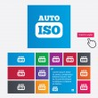 ISO auto foto camera teken pictogram. instellingen symbool — Stockfoto #44828697