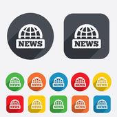 News sign icon. World globe symbol. — Stock Photo