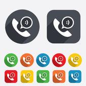Icona del segno di telefono. simbolo di supporto. — Foto Stock