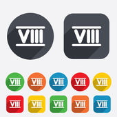 Roman numeral eight icon. Roman number eight sign. — Stock Photo