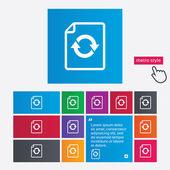File document refresh icon. Reload doc symbol. — Stock Photo