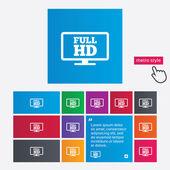 Full hd widescreen tv. High-definition symbol. — Stock Photo