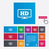 HD widescreen tv. High-definition symbol. — Stock Photo