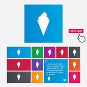 Ice Cream sign icon. Sweet symbol. — Stock Photo
