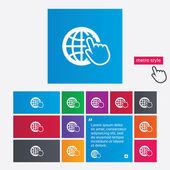 Internet sign icon. World wide web symbol. — Stock Photo