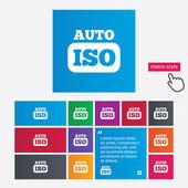 ISO Auto photo camera sign icon. Settings symbol — Stock Photo