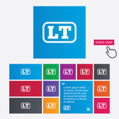 Lithuanian language sign icon. LT translation — Stock Photo