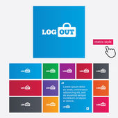 Logout sign icon. Log out symbol. Lock. — Stock Photo