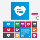 Heart sign icon. Love you symbol. — Stock Photo