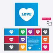Heart sign icon. Love symbol. — Stock Photo