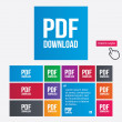 PDF download icon. Upload file button. — Stock Photo #44831145