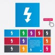 Photo flash sign icon. Lightning symbol. — Stock Photo #44831219