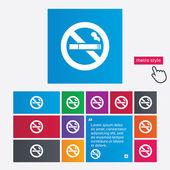 No Smoking sign icon. Cigarette symbol. — Stock Photo