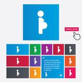 Icono de señal embarazada. símbolo de embarazo. — Foto de Stock