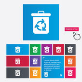 Recycle bin icon. Reuse or reduce symbol. — Stock Photo