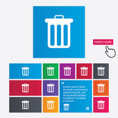 Recycle bin icona segno. simbolo del cestino. — Foto Stock