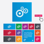 Cog settings sign icon. Cogwheel gear symbol. — Stock Photo