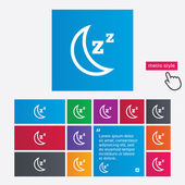 Sleep sign icon. Moon with zzz button. — Stock Photo