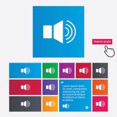 Speaker volume sign icon. Sound symbol. — Stock Photo