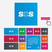 SOS sign icon. Lifebuoy symbol. — Stock Photo